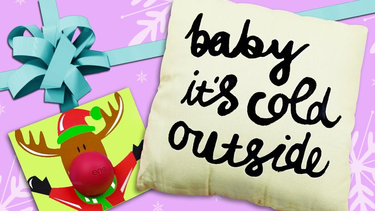DIY GIFT IDEAS FOR FRIENDS ★ EOS Lip Balm Xmas Cards, Tumblr Pillows & more!