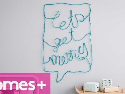 DIY IDEA: Decorative wall words art - homes+