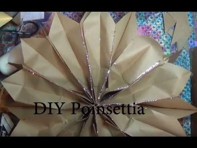 DIY Poinsettia Flower Tutorial Christmas Decorating part 01