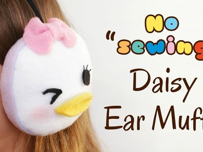 DIY Tsum Tsum Daisy Earmuffs - No Sewing - 2 Cats & 1 Doll