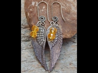 Fashion jewelry how to make leafy earring