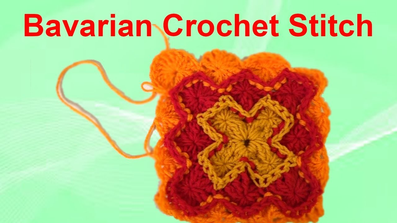 How to crochet an afghan Bavarian Stitch part 5