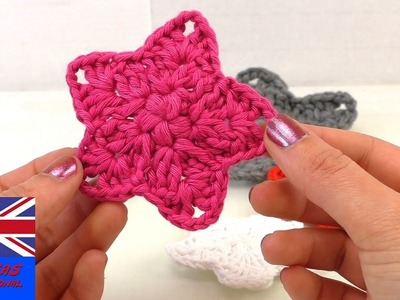 How To Crochet An Easy Puff Stitch Star -  Tutorial