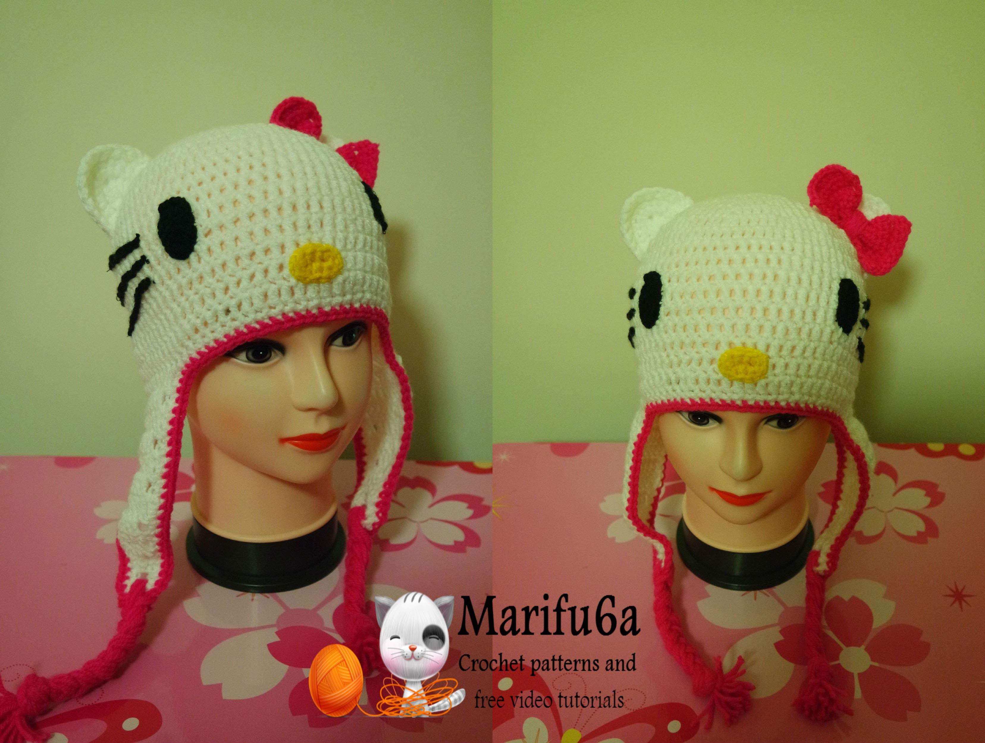 How To Crochet Hello Kitty Hat Free Pattern By Marifu6a