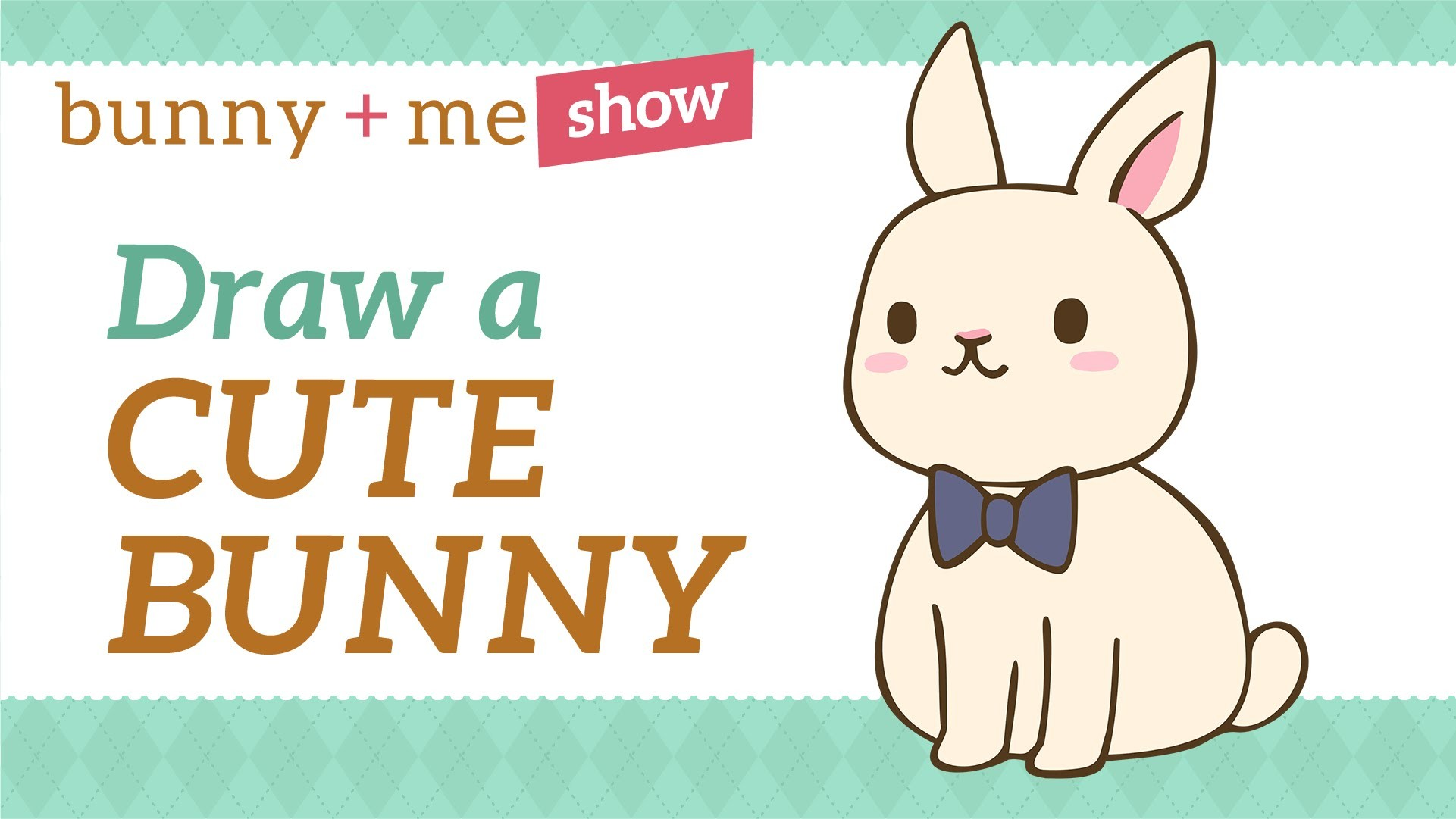How to draw a Bunny - Easy Kawaii Drawing Tutorial for Beginners