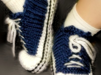 How to Loom Knit Adult Tennis Shoes