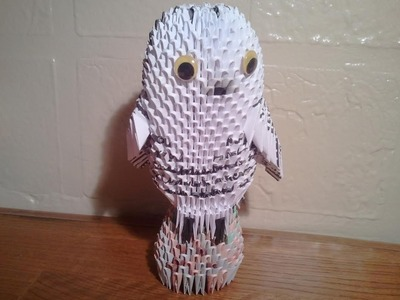 How to make 3d origami Snowy Owl