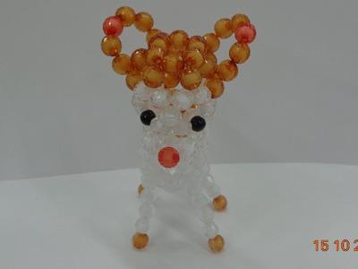 How to make a Beaded deer  beaded bead Tutorial-part 5- hướng dẫn kết cườm