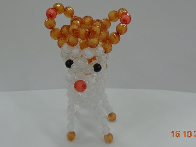 How to make a Beaded deer  beaded bead Tutorial-part 4- hướng dẫn kết cườm