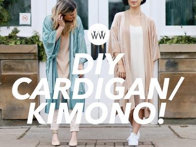 How to Make a Cardigan.Kimono (2 styles!)
