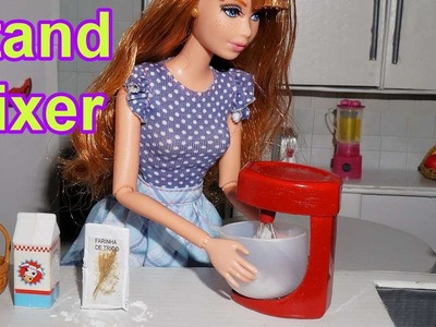 How to make a doll stand mixer (kitchen) for Barbie, Monster High, Frozen, EAH, etc