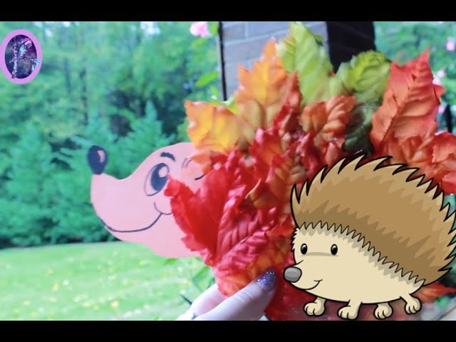 How to make a FALL LEAF HEDGEHOG (Parrot's Pinterest Palooza) - @dramaticparrot