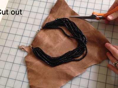 How to Make a Leather Fringe Necklace