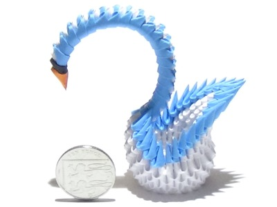 How To Make a Mini 3D Origami Swan