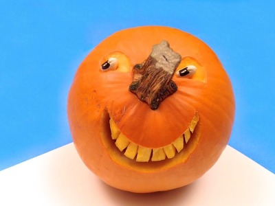 How to Make a Smiling Pumpkin for Halloween (HD)