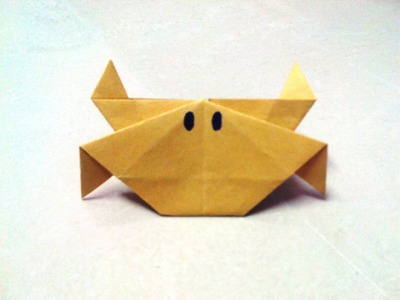 How to make an origami crab.