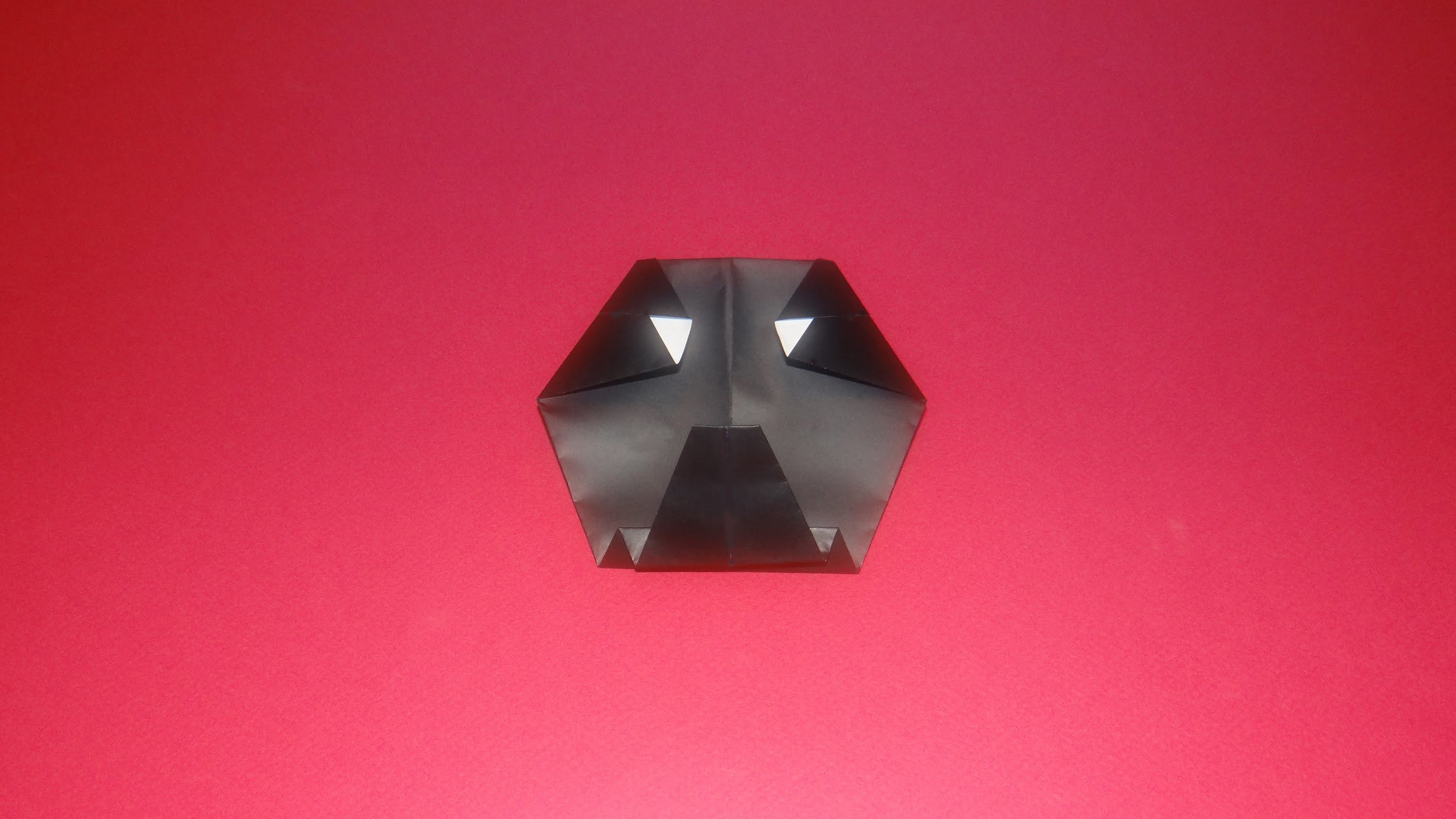 How To Make An Origami Darth Vader - Star Wars