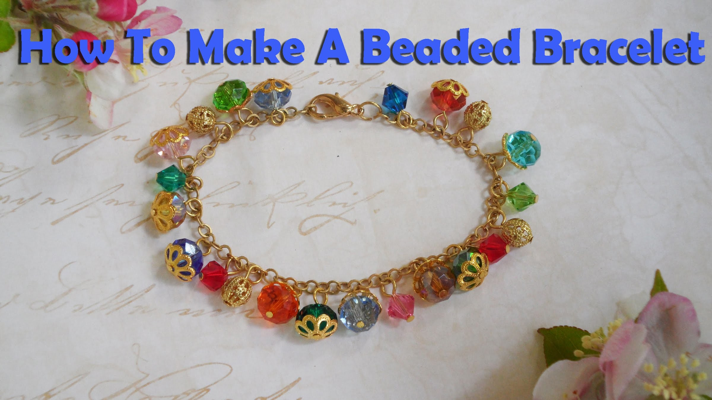 How To Make Jewelry: How To Make A Beaded Dangle Bracelet