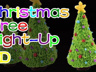 How to Make Light-Up Christmas Tree.Holiday Christmas - 3D Printing Pen Creations.DIY Tutorial