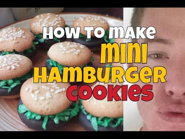 How to Make Mini Hamburger Cookies