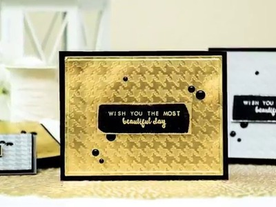 How to Use Spellbinders Houndstooth Texture Plate for Elegant Cardmaking