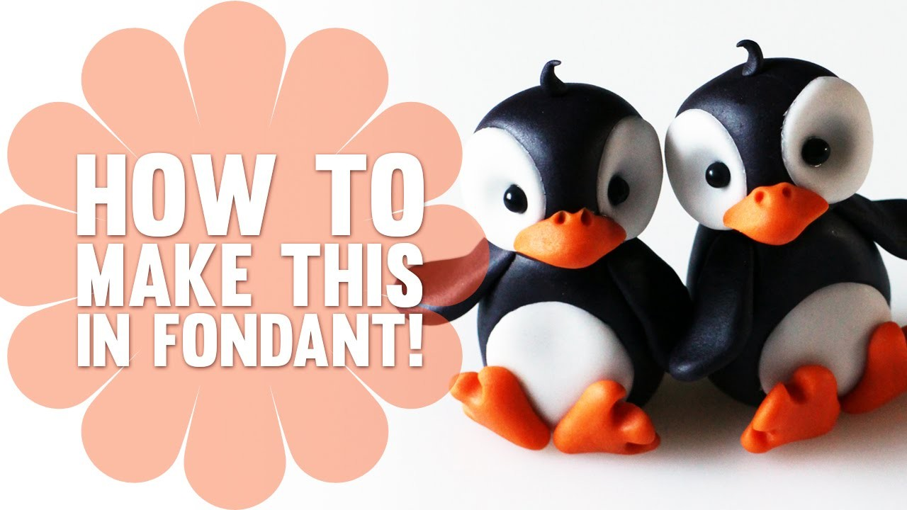 Learn How To Make these Adorable and Super Easy Penguins - Fondant Cake Decorating Tutorial