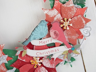 Making a Poinsettia Stamped Wreath | In The Studio