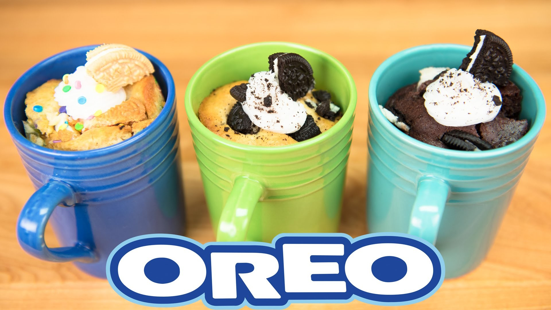 Oreo Mug Cakes (Chocolate Oreo Cake, Cookies & Cream Cake, Funfetti Oreo Cake): Backpack Baking