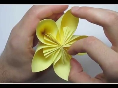 Origami flower easy KUSUDAMA - How to make a origami flower