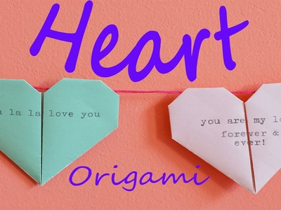 Origami heart - How to make origami heart