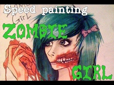 Speed painting Zombie Girl with Ghost Town