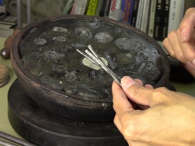 The art of Metal Chasing to create handmade jewelry.