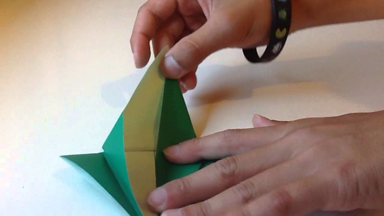 Very easy origami flapping bird