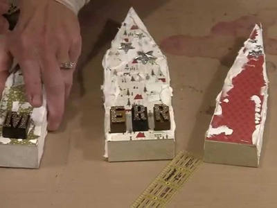 Wonky Wood House Christmas Village by Joggles.com