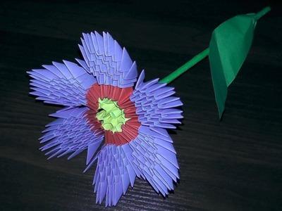 3D origami flower primula primrose tutorial (instruction)