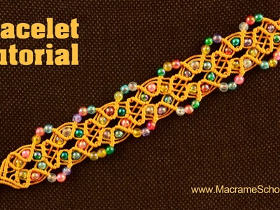 Beaded Fall Bracelet Tutorial | Macrame School