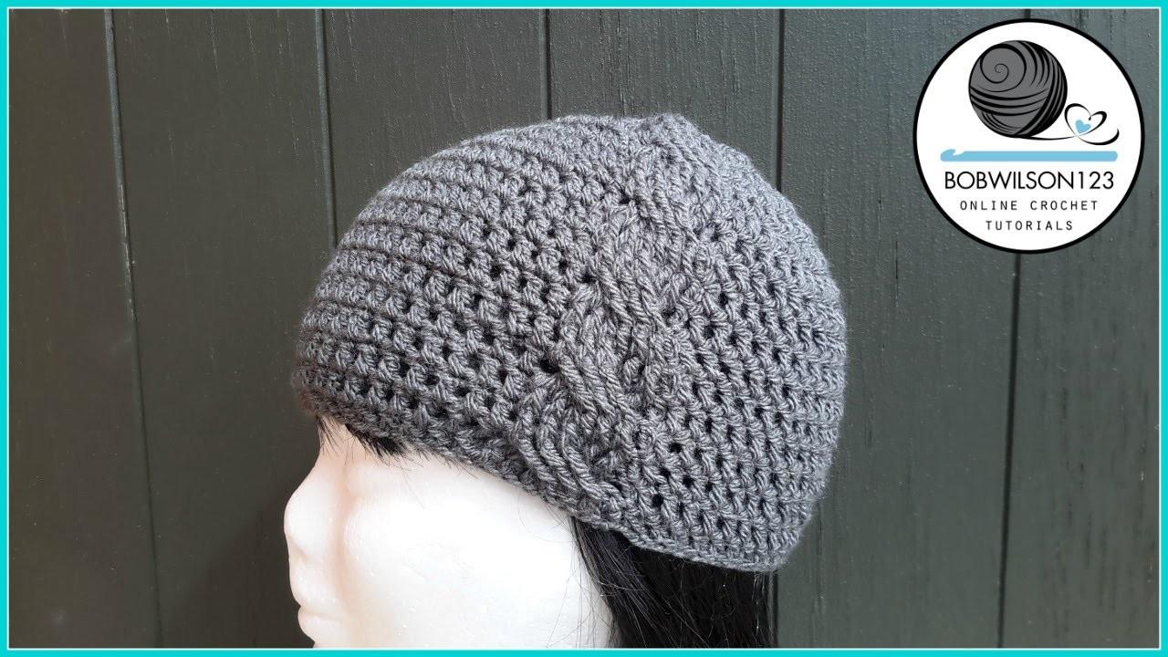 Cassiopia Cable Stitch Hat Crochet Tutroial