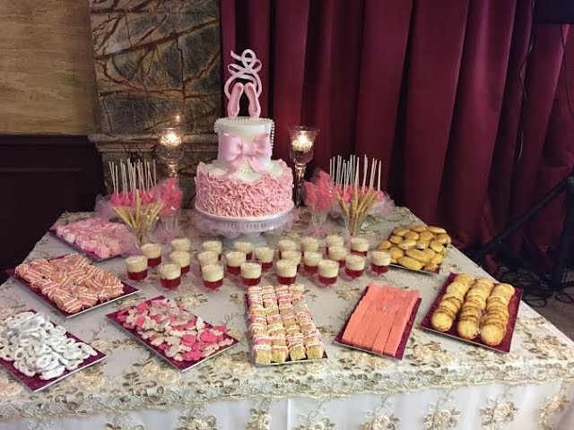 Dessert Table for a Baby Shower