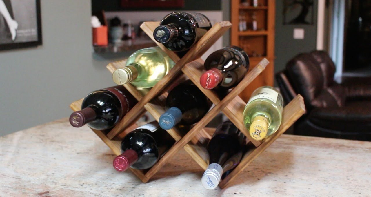 DIY Christmas Present - Countertop Wine Rack