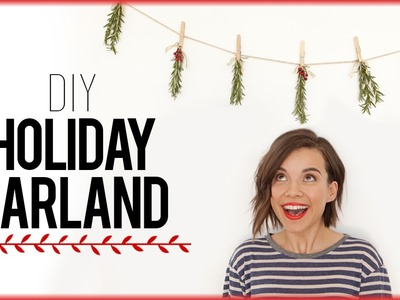 DIY Holiday Garland with Rosemary!. #DIYDecember Day 3