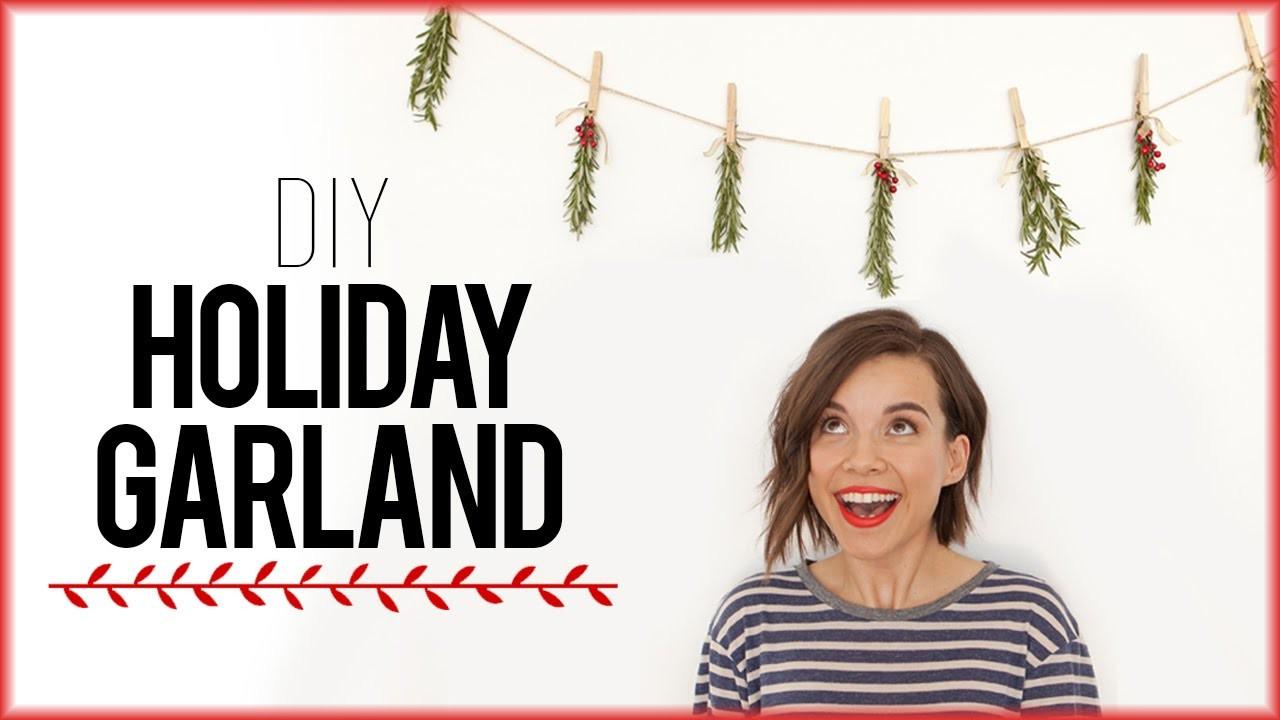 DIY Holiday Garland with Rosemary!. #DIYDecember Day 3