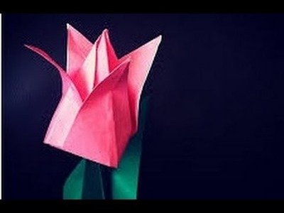 Easy origami flowers TULIP - how to make an origami flower