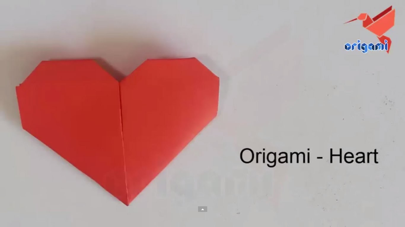 Easy origami heart  for beginners