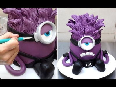 Evil Despicable Me 3D Minion Cake - How To by CakesStepbyStep