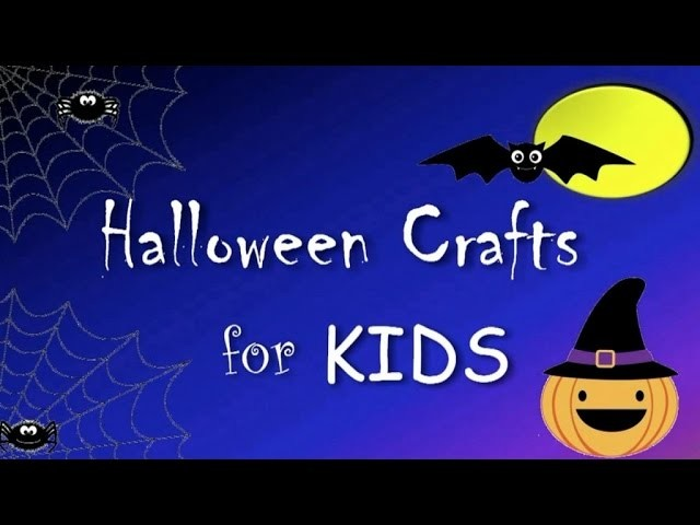 HALLOWEEN CRAFT: How to make HALLOWEEN MASKS for kids - Simple Kids Crafts
