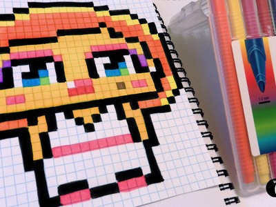 Handmade Pixel Art  - How To Draw a Cute Marilyn Monroe by Garbi KW