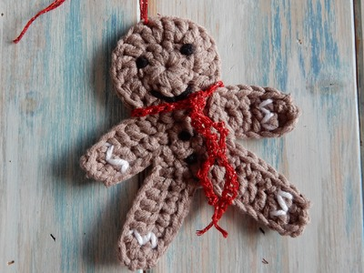 How to Crochet a Gingerbread Man Christmas Decoration