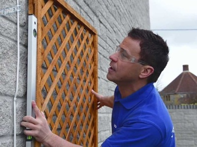 How to Fix a Trellis on a Stone or Brick Wall