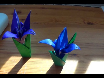 How to fold yourself an Origami Iris (flower) in less than ten minutes