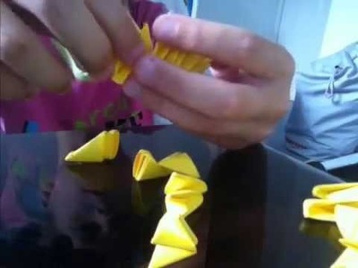 How to make a 3d origami duck part 1